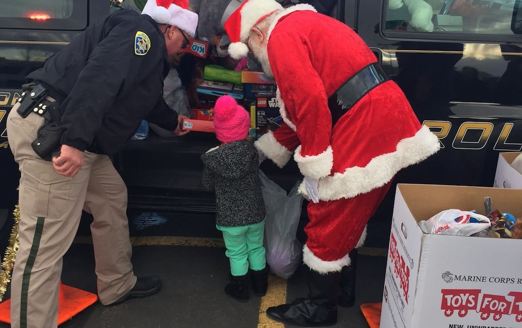 Pack the Patrol Car – Toys for Tots